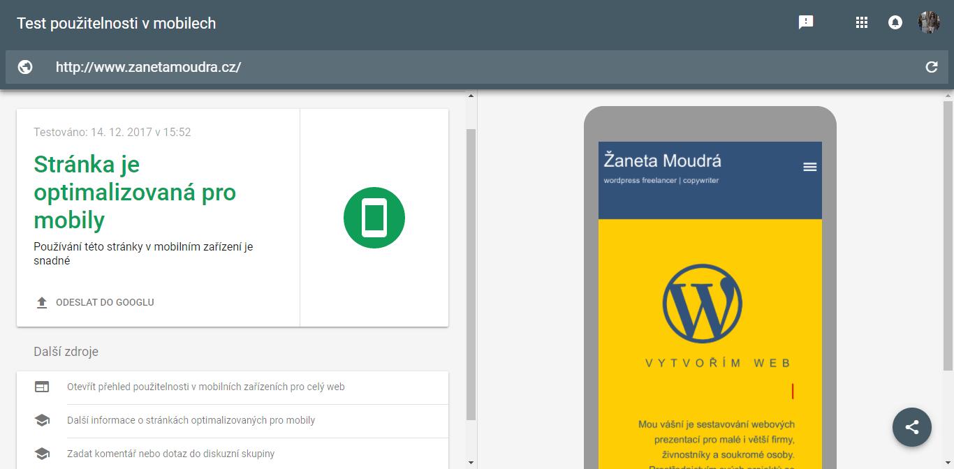 test responzivní web