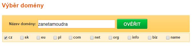 registrace domény