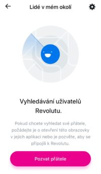 hledání uživatelů Revolutu